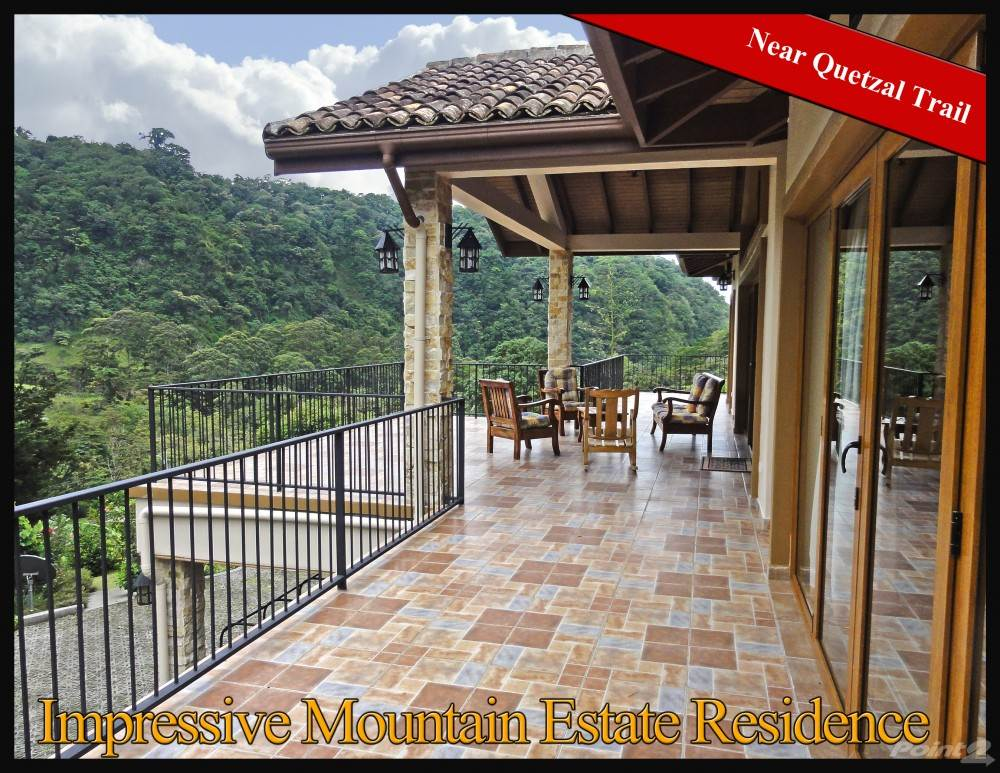 Residential For Sale in Impressive Mountain Estate Residence Near Quetzal Trail – Owner Financing, Boquete, Chiriquí   , Panama