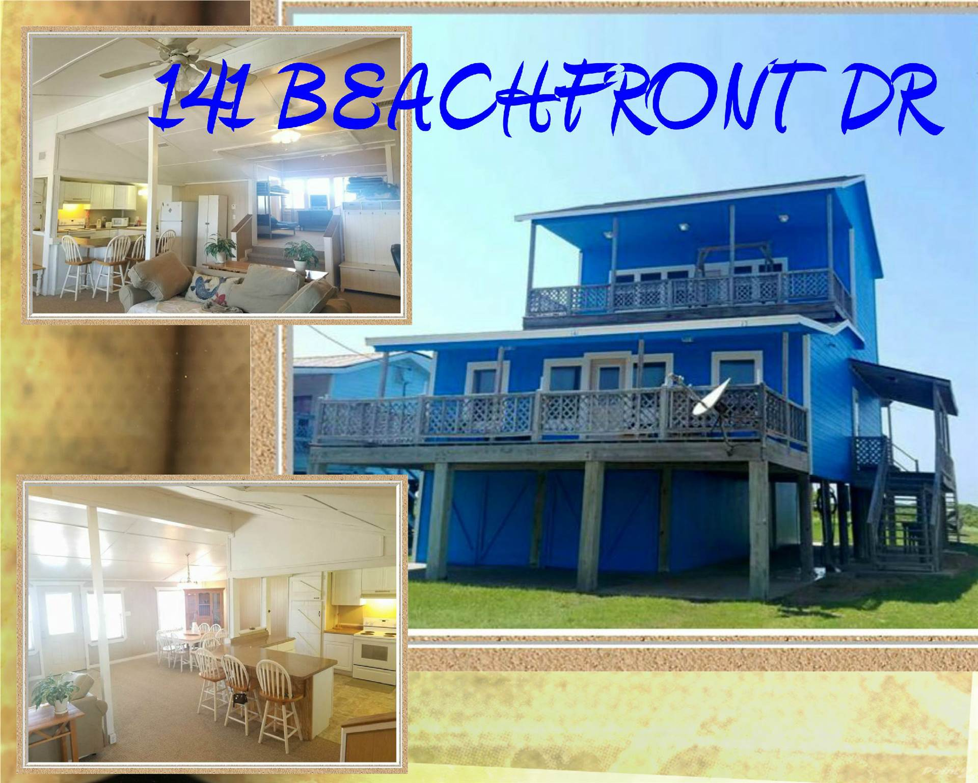 Residential For Sale in 141 BEACHFRONT DRIVE, Matagorda, Texas ,77457