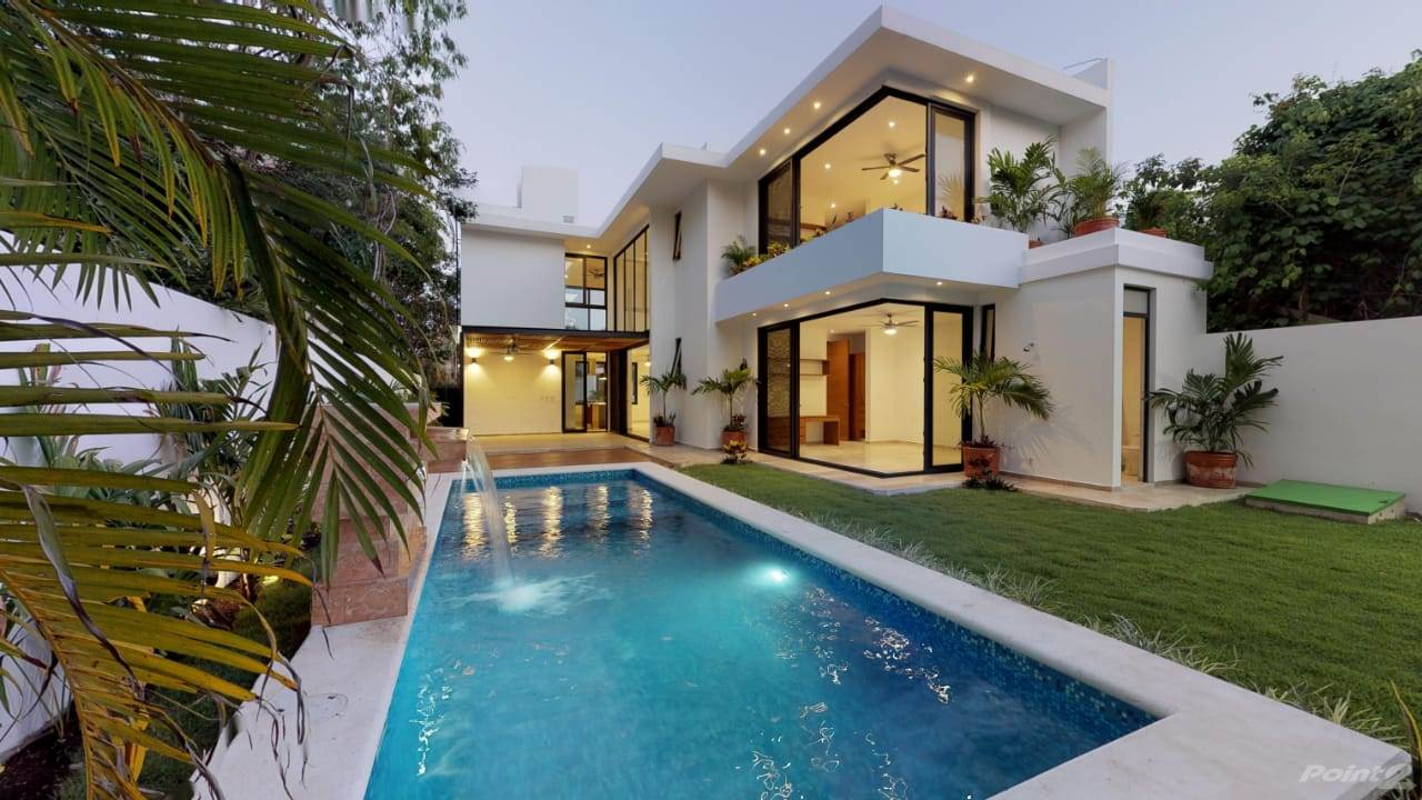 Residential For Sale in Luxurious NEW HOUSE in Playa Magna private pool, bright with luxury finishes P3033, Playa del Carmen, Quintana Roo ,77710  , Mexico