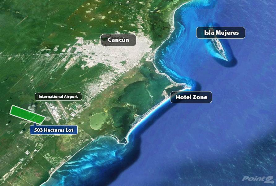 Land for sale in 503 Hectares in Cancun, cancun, Quintana Roo ,77500  , Mexico