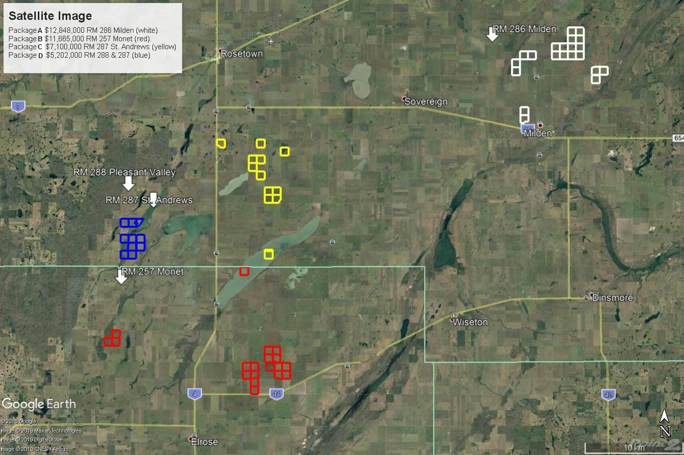 Farms & Ranches for sale in RM 286, 257, 287 & 288 - 9,783.5 Acres, Milden, Saskatchewan ,S0K 2L0  , Canada