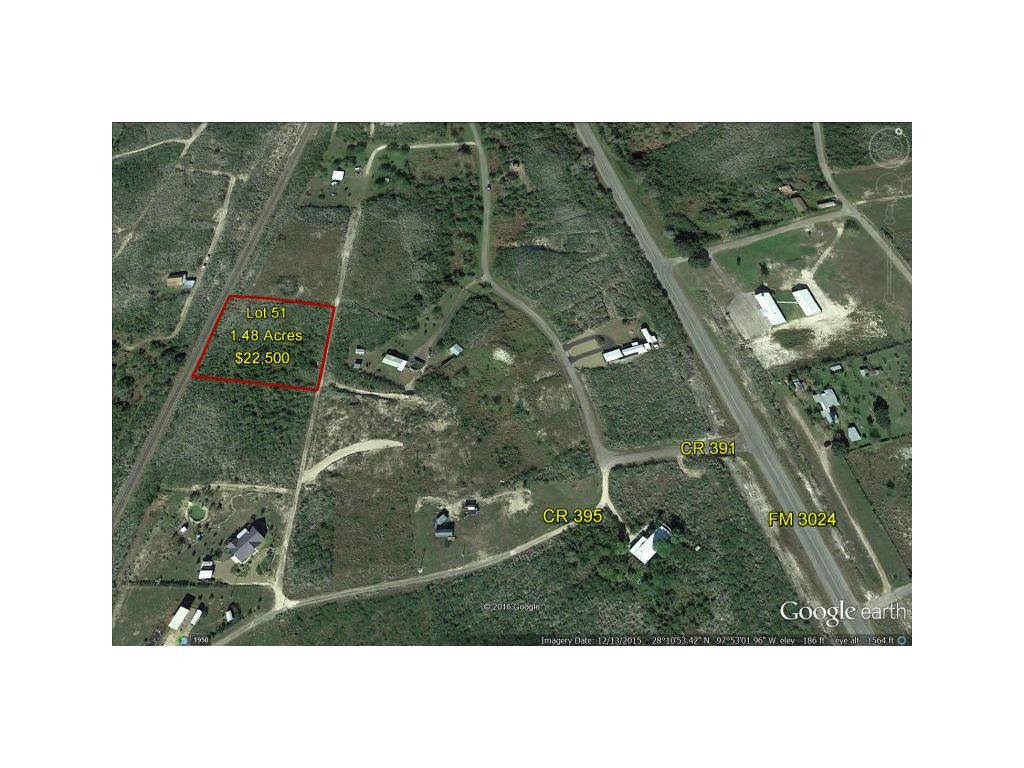 Residential For Sale in #51 Lake Country Estates Unit II 1.48 Acres, Mathis, Texas ,78368