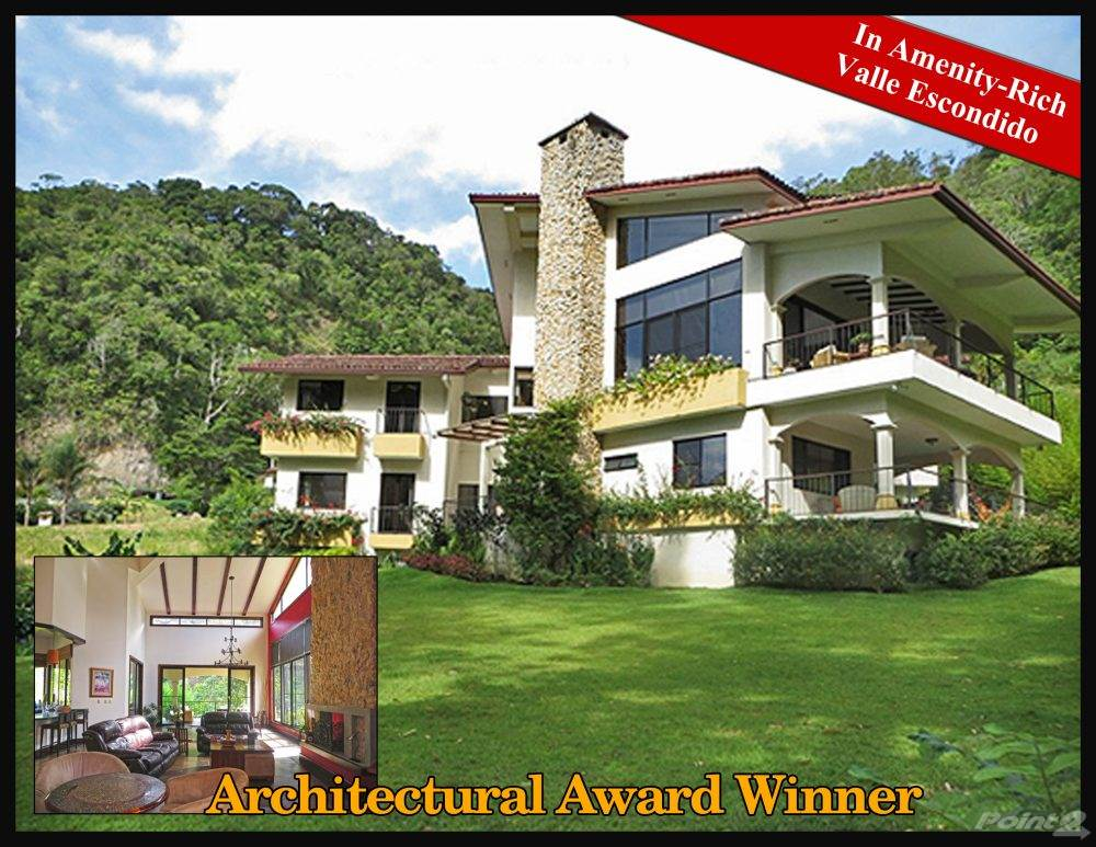 Residential For Sale in Architectural Award Winning House in Valle Escondido, Boquete, Chiriquí   , Panama