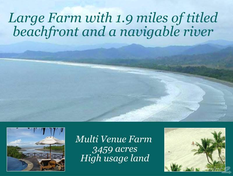 Farms & Ranches for sale in 3459 Acres Farm w/2 Miles of Titled Beachfront & Large River, Playa Coyote, Guanacaste ,50906  , Costa Rica