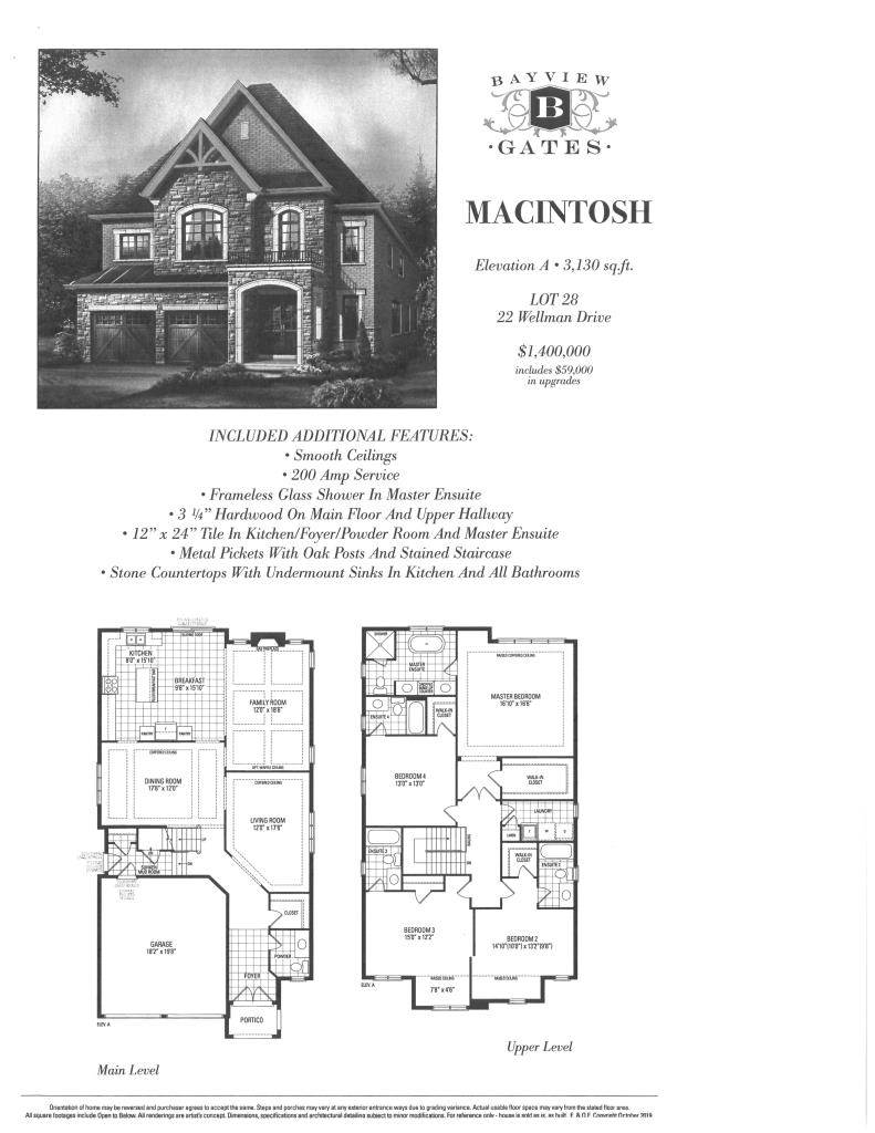 Residential For Sale in Wellman Drive BRAND NEW HOMES in RICHMOND HILL (Many to Choose from), RICHMOND HILL, Ontario ,L4E 1G1  , Canada