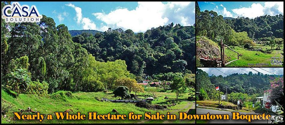 Residential For Sale in Center of Town Commercial Opportunity – Nearly a Whole Hectare for Sale, Boquete, Chiriquí   , Panama