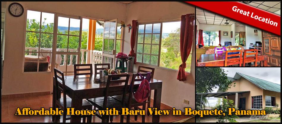 Residential For Sale in Affordable House for Sale with Baru View in Boquete, Panama-, Boquete, Chiriquí   , Panama