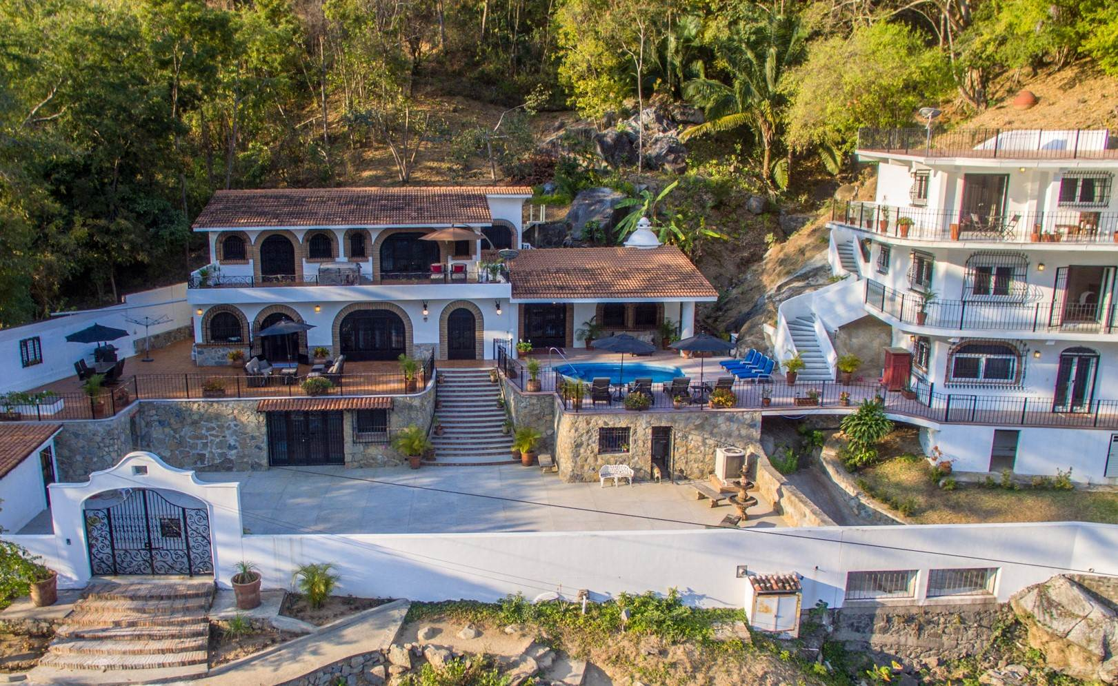 Residential For Sale in Boca de Tomatlan Ocean view with 8 bedrooms, Main House and guest house, Puerto Vallarta, Jalisco ,48380  , Mexico