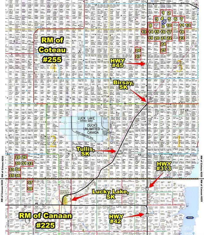 Farms & Ranches for sale in RM OF COTEAU #255 & RM OF CANAAN #225, Coteau Rm No. 255, Saskatchewan ,S0L 0G0  , Canada