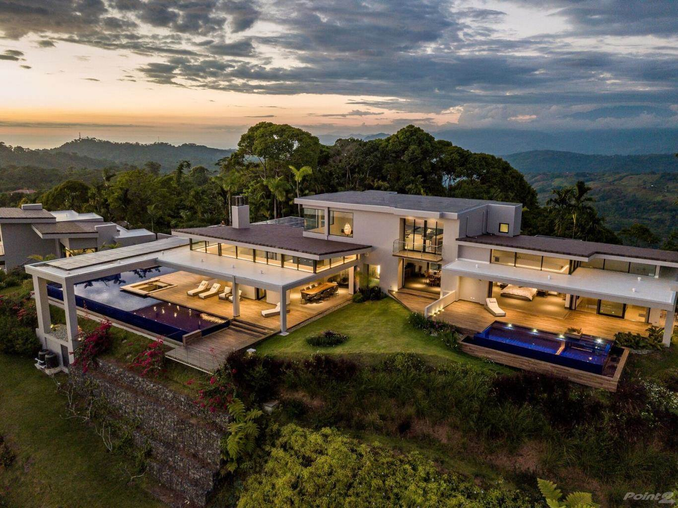 Residential For Sale in 4 ACRES - 5 Bedroom Modern Luxury Estate With 3 Pools And Epic Ocean Views!!!, Dominical, Puntarenas ,DOMINICAL  , Costa Rica