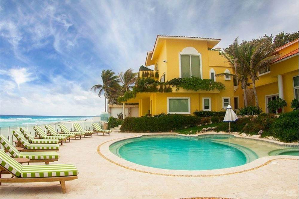 Residential For Sale in Traditional Beachfront Hacienda Private Beach Hotel Zone Stuning View, Cancun, Quintana Roo ,77500  , Mexico