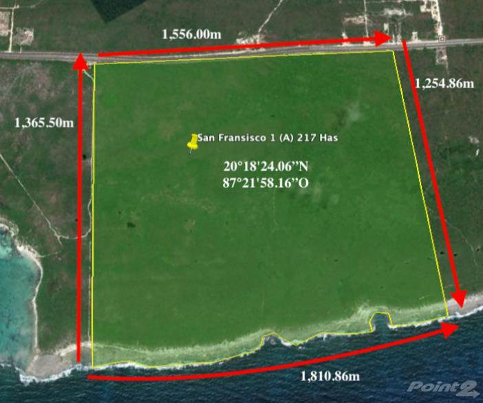 Residential For Sale in Hotel land of 217 hectares (ID A 365), Xel-Ha, Quintana Roo ,77730  , Mexico