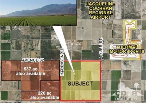Land for sale in 628 ac Harrison & Ave 62, Thermal, California ,92274