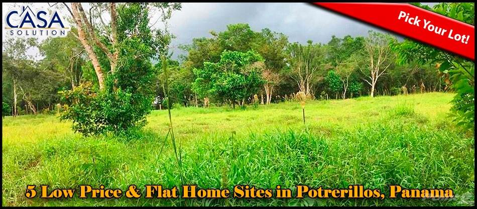 Residential For Sale in 5 Already Segregated Low Price, Lovely & Flat Home Sites for Sale in Potrerillos Arriba, Potrerillos, Chiriquí   , Panama