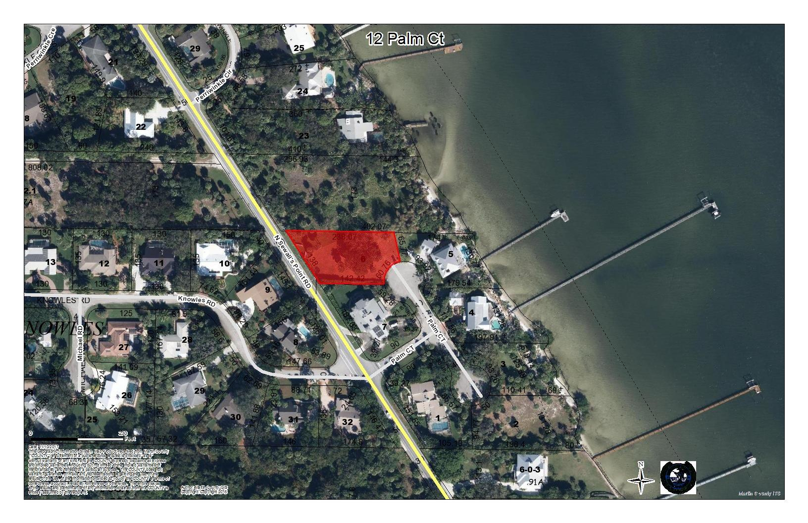 Land for sale in 12 Palm Court, Sewalls Point, Florida ,34996