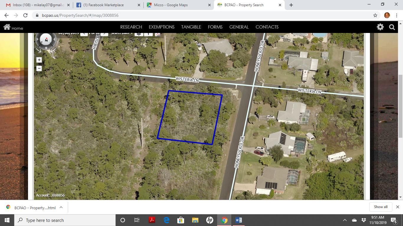 Land for sale in Honeysuckle Drive, Micco, Florida ,32976