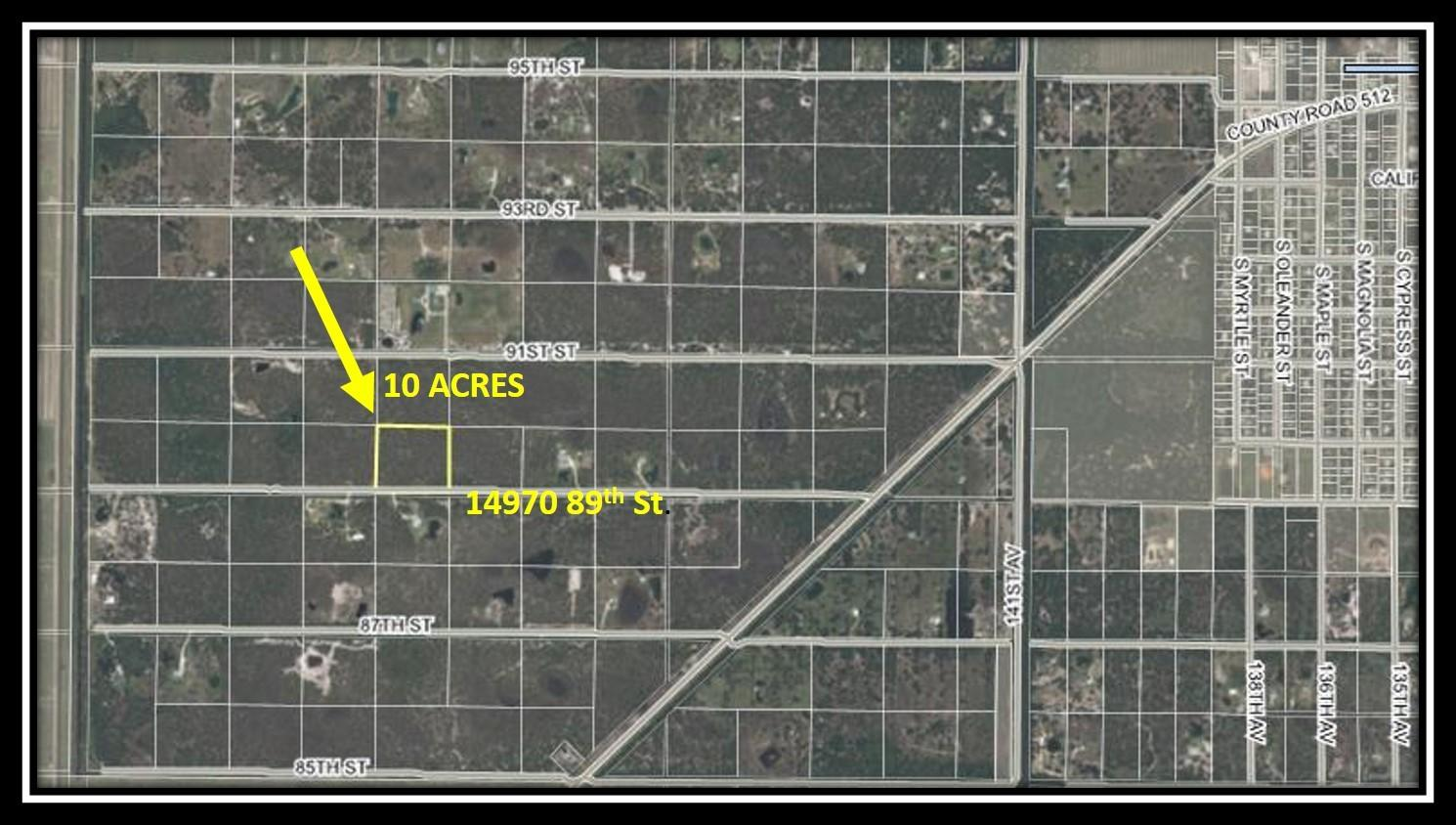Land for sale in 14970 89th Street, Fellsmere, Florida ,32948