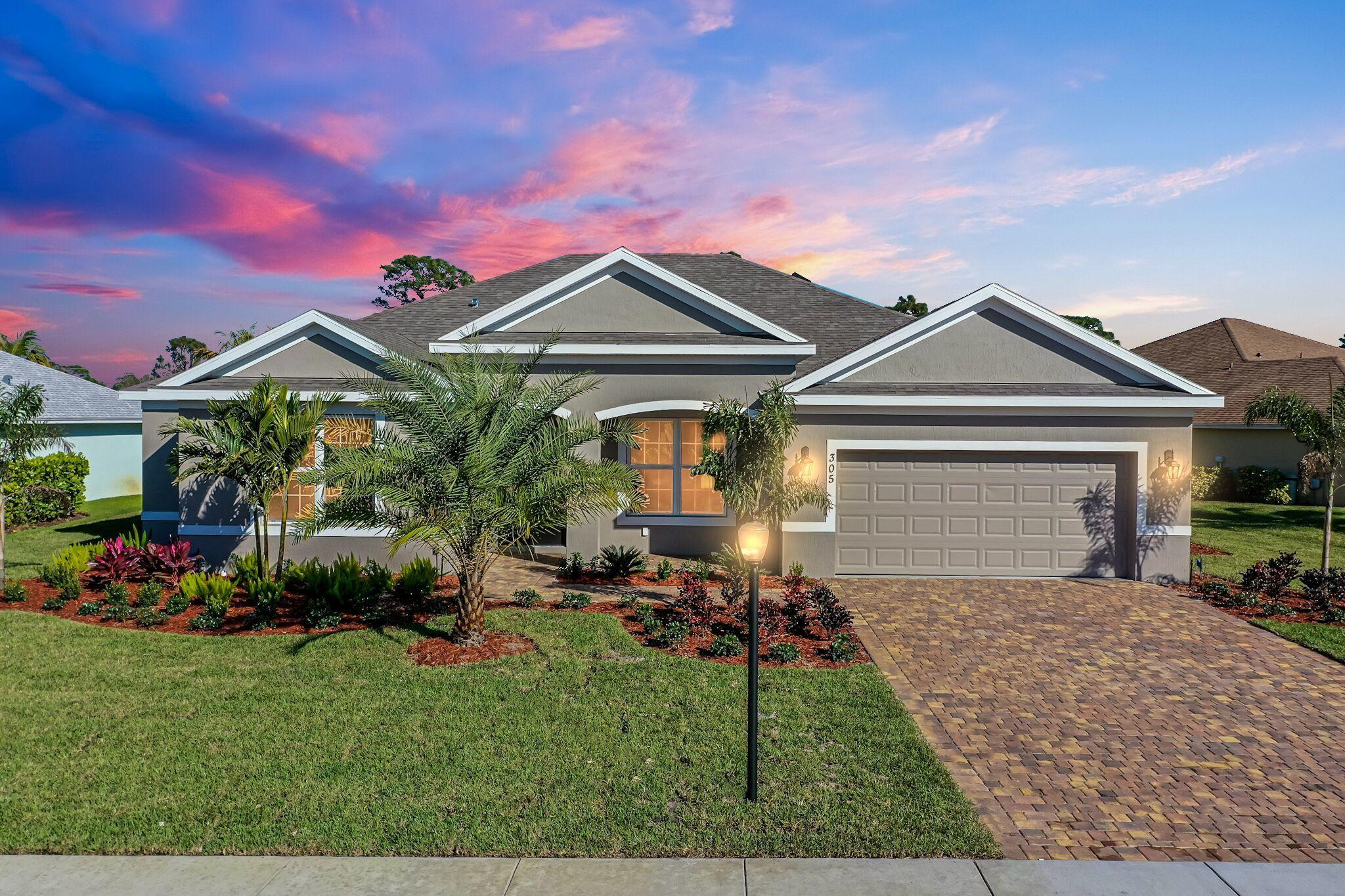 Single Family Home for sale in 305 SW Vista Lake Drive, Port Saint Lucie, Florida ,34953
