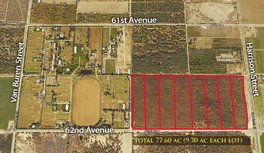 Commercial Land for sale in NW Corner Harrison & 62nd Avenue, Thermal, California