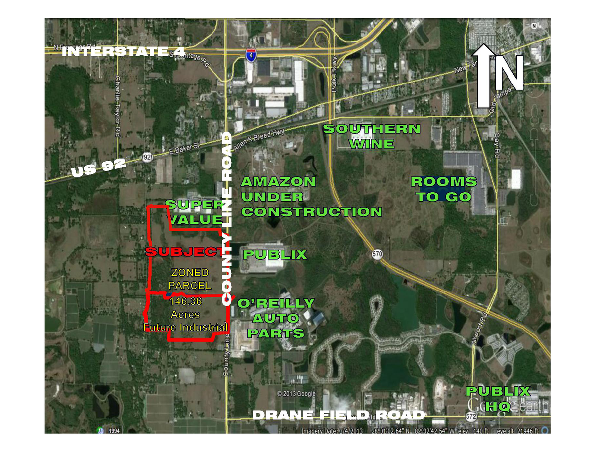 Commercial Land for sale in I-4 btwn. Tampa & Orlando, Plant City, Florida