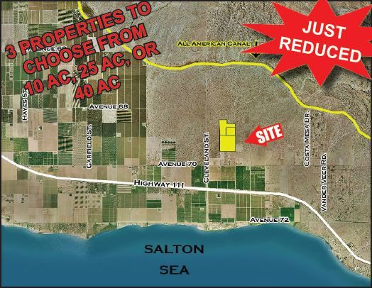 Commercial Land for sale in 75 ac N. Ave 70/E. Cleveland, Mecca, California