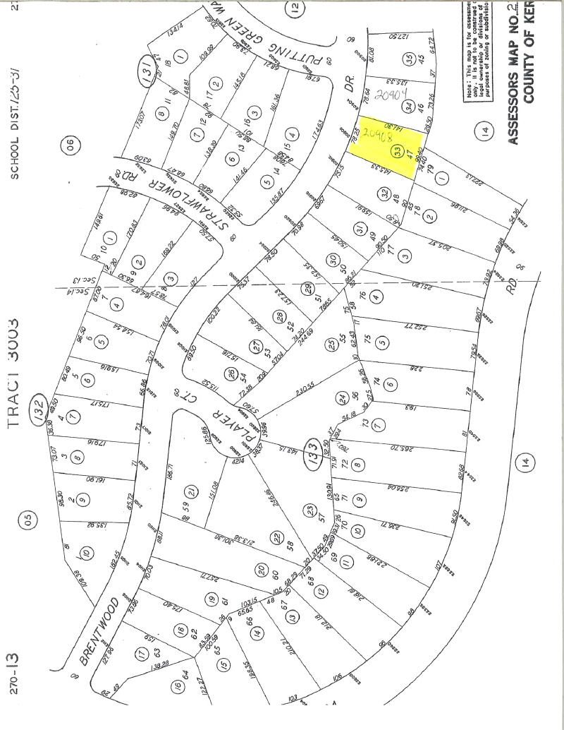 Land for sale in 20908 Brentwood Dr, Tehachapi, California ,93561