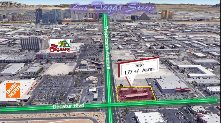 Commercial for sale in 4885 W Tropicana Ave - Listed at $9,300,000, Las Vegas, Nevada ,89103