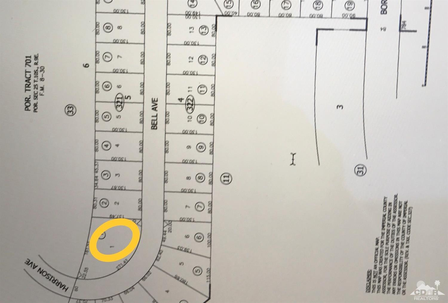 Land for sale in 1440 Bell Avenue, Thermal, California ,92274