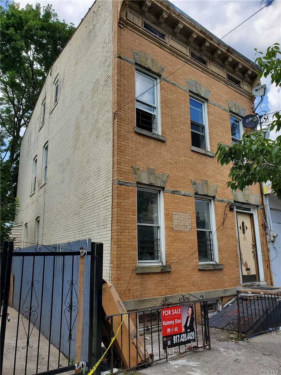 Residential For Sale in 291 Ridgewood Ave, Cypress Hills, NY ,11208