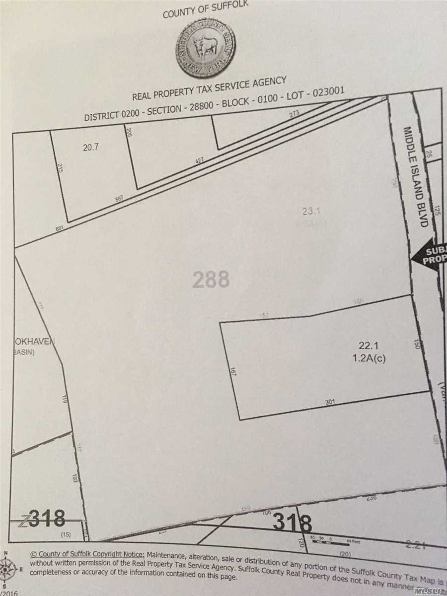 Land for sale in 36 Middle Island Blvd, Middle Island, NY ,11953