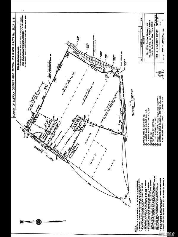 Land for sale in 1010 Sunrise Hwy, Amityville, NY ,11701