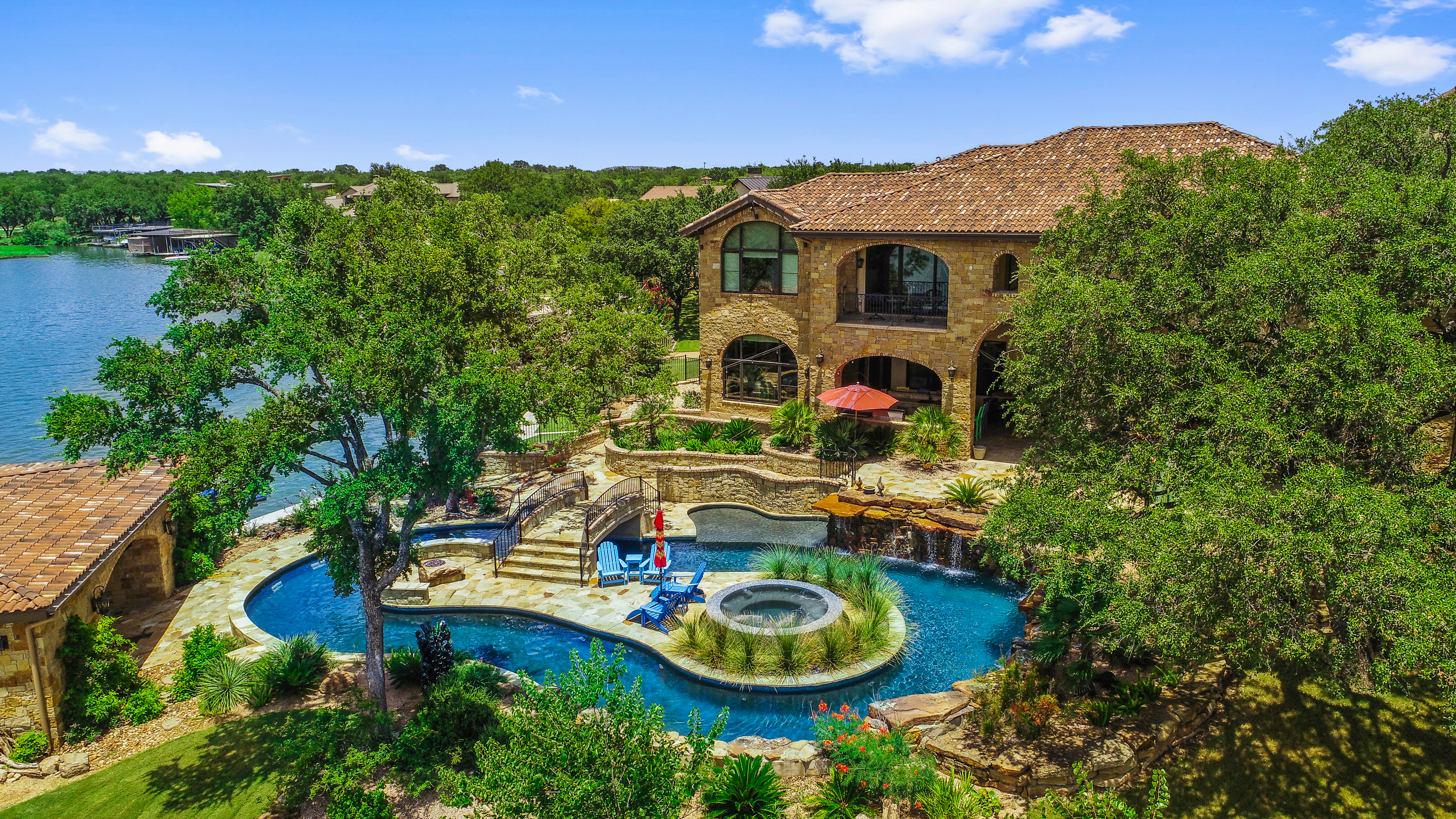 Single Family Home for sale in 113 Wilderness Drive East on Lake LBJ, Marble Falls, Texas ,78654